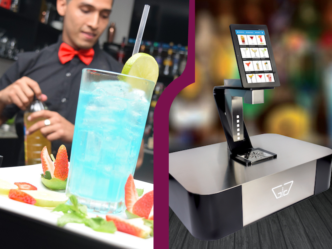 machine à cocktail contre barman